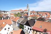 14世紀からの美しい町並み(チェスキークロムロフ)