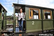 保存鉄道シャルガンスカ・オスミツァにて