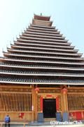 大きなトン族鼓楼(三江)