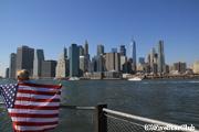 ブルックリンハイツプロムナードから見たマンハッタン