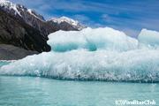 タスマン氷河湖にて