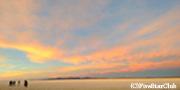 ウユニ塩湖の夕日(ウユニ)