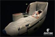 ゆったり眠れるエジプト航空ビジネスクラス