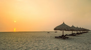 長い海岸線が美しいダナンのビーチ
