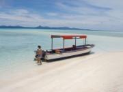 透き通った海と美しい砂浜