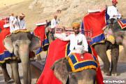 象に乗ってアンバー城へ
