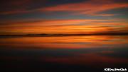 ウユニ塩湖のサンセット